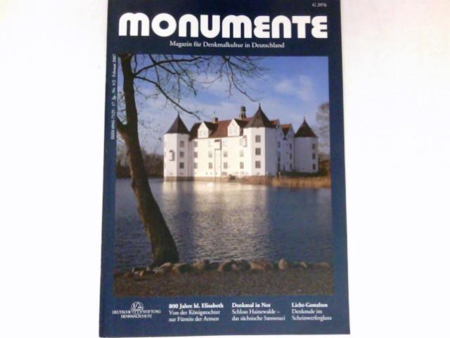Monumente, Nr. 1/2 - 2007 : 17. Jg. Magazin für Denkmalkultur in Deutschland. Deutsche Stiftung Denkmalschutz.