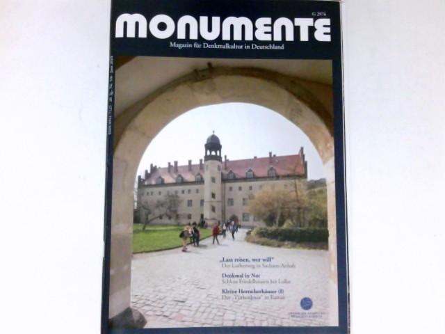 Monumente, Nr. 5/6 - 2010 : 20. Jg. Magazin für Denkmalkultur in Deutschland. Deutsche Stiftung Denkmalschutz.