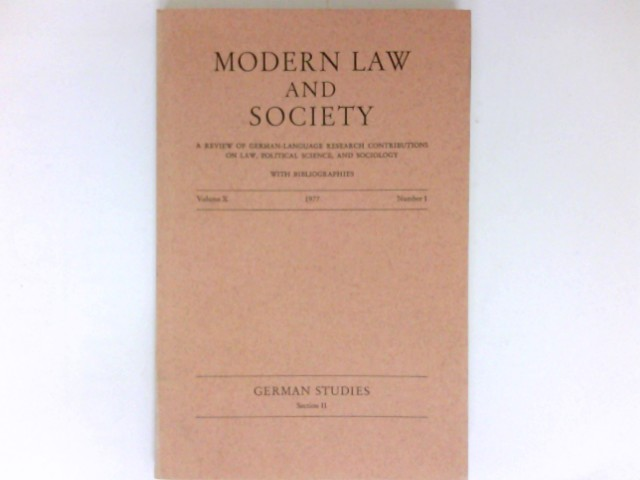Modern Law and Society : Vol. X, Number 1, 1977.