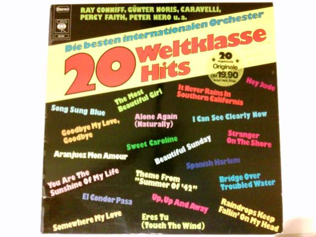Die besten internationalen Orchester  Vinyl record Vinyl-LP 20 Weltklasse Hits. Ray Conniff, Percy Faith, Peter Nero, Günter Noris.. / # 80 243
