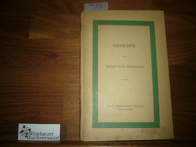 Gedichte 3.-4.Tausend Hatzfeld, Adolf von :