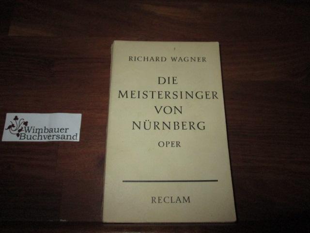 Wagner, Richard und Wilhelm Zentner : Die Meistersinger von Nürnberg