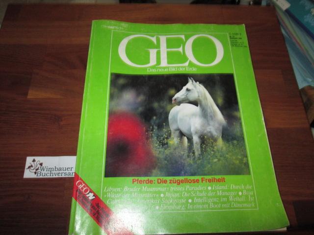 GEO , Nr. 12 Dezember 1983 Pferde Die Zügellose Freiheit