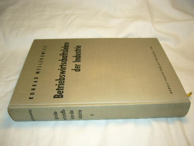 Betriebswirtschaftslehre der Industrie. Bd. 2 3., durchgesehene und erweiterte Auflage
