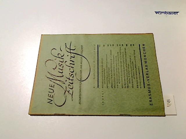 Neue Musikzeitschrift. Monatsschrift für Musiker und Musik-Freunde. 1. Jg., Nr. 11 November  1947
