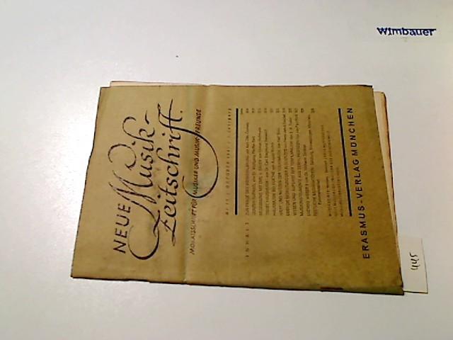 Neue Musikzeitschrift. Monatsschrift für Musiker und Musik-Freunde. 1. Jg., Nr. 10 Oktober 1947