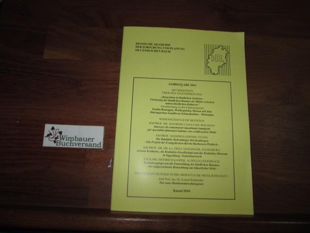 Jahresgabe 2011 mit den Berichten über den Jugendpreis 2010 u.a.