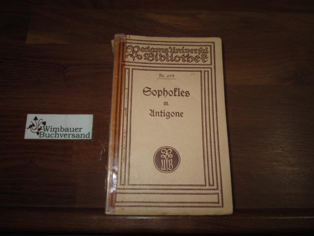 Sophokles Tragödien - Band 3 : Antigone