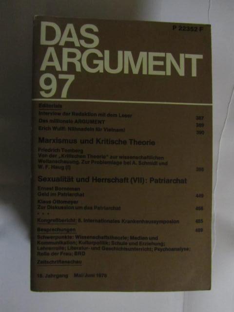 Das Argument 97 Mai Juni 1976