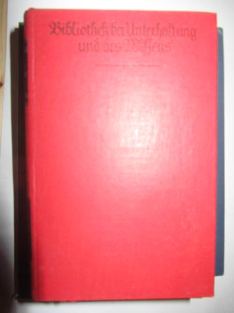 Bibliothek der Unterhaltung und des Wissens. I. Band Jahrgang 1930