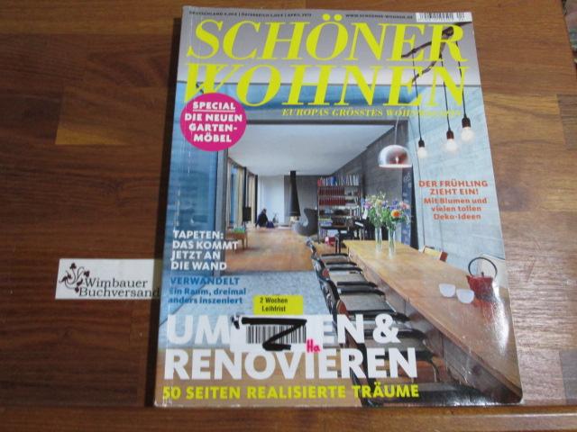 Schöner Wohnen - Europas grösstes Wohnmagazin.- April 2013 : Umziehen & Renovieren