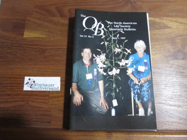 Quarterly Bulletin of THE NORTH AMERICAN LILY SOCIETY, Vol. 51, No 3, September 1, 1997
