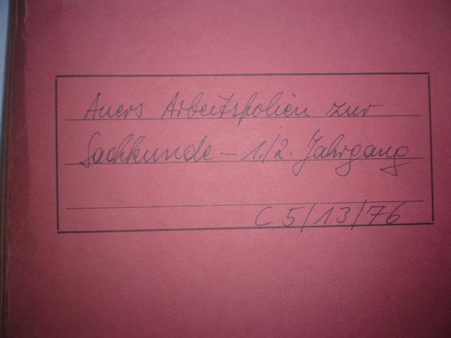 Auers Arbeitsfolien zur Sachkunde - 1./2. Jahrgang c5/13/76