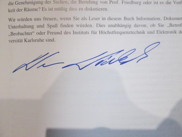 Universität Karlsruhe: 40 Jahre IHE : Institut für Höchstfrequenztechnik und Elektronik SIGNIERT