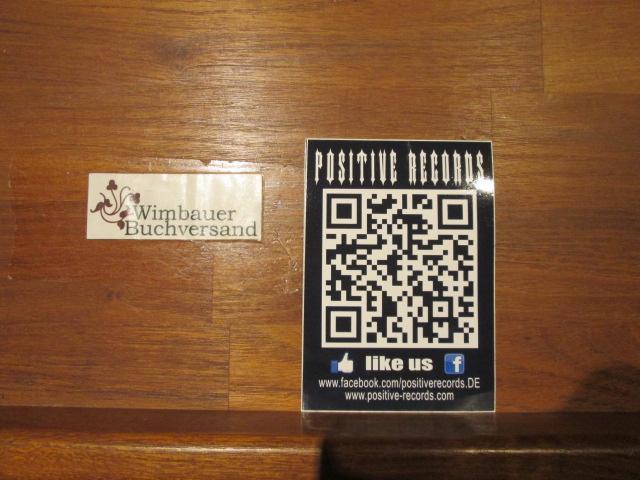 Aufkleber : Positive Records Like us