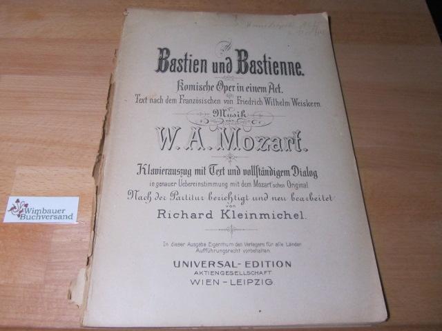 Bastien und Bastienne. Klavierauszug mit Text