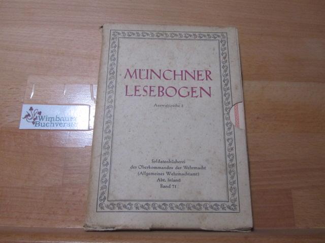 Münchner Lesebogen; Teil: Auswahlreihe 3. Originalschuber 71 mit 13 Heften
