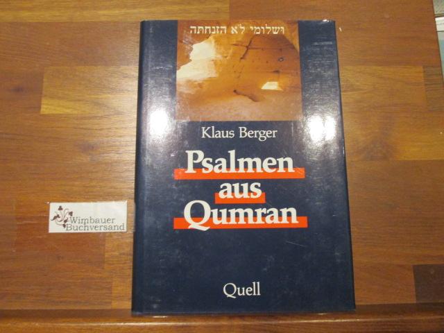 Psalmen aus Qumran. 2. Aufl.