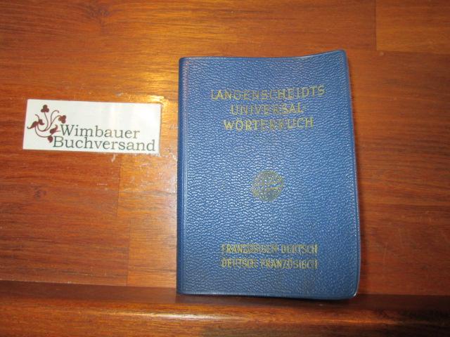 Langenscheidts Universal-Wörterbuch Französisch : französisch-deutsch, deutsch-französisch. 8. Auflage