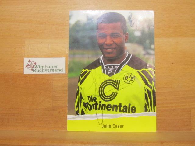 Autogramm Julio Cesar BVB Dortmund /// Autogramm Autograph signiert signed signee
