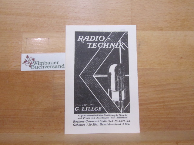 Werbefaltblatt: G. Lillge Radio-Technik / Reclam Rundfunktexte