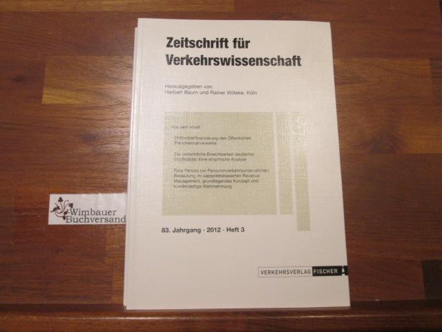 Zeitschrift für Verkehrswissenschaft : ZfV, 83. Jahrgang, Heft 3