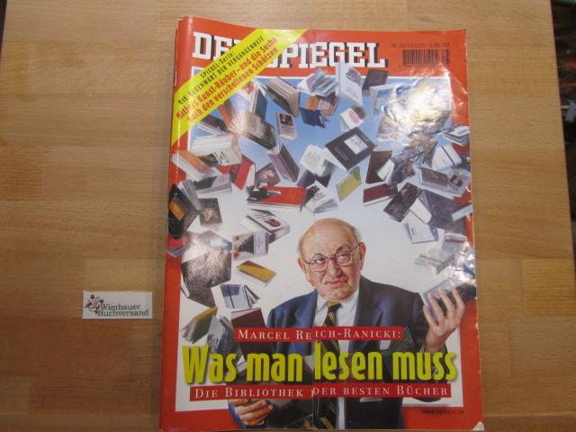 Der Spiegel. 18.06.2001 Nr. 25 Das deutsche Nachrichtenmagazin. Marcel Reich-Ranicki was man lesen muss