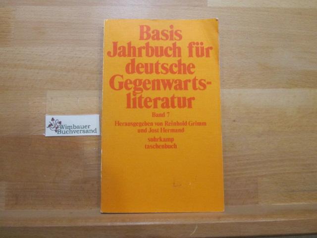 Basis; Teil: Bd. 7. (1977). Suhrkamp-Taschenbuch ; 420 1. Aufl.