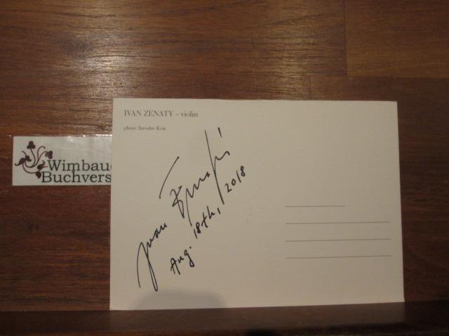 Original Autogramm Ivan Zenaty Violin /// Autogramm Autograph signiert signed signee