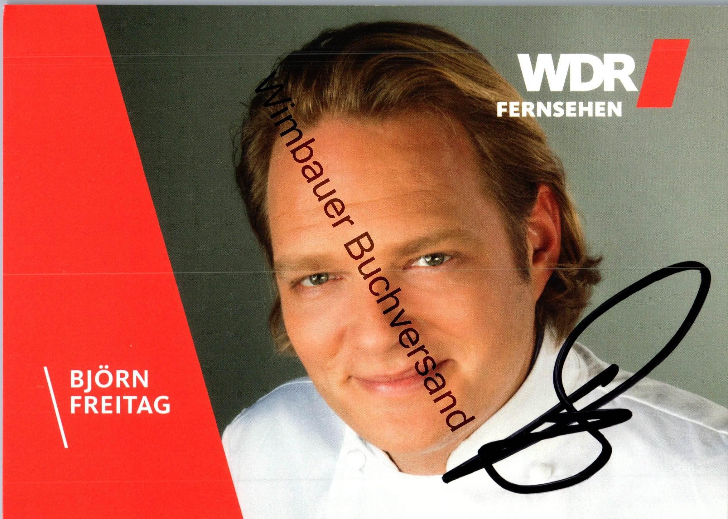 Original Autogramm Björn Freitag Fernsehkoch WDR /// Autogramm Autograph signiert signed signee