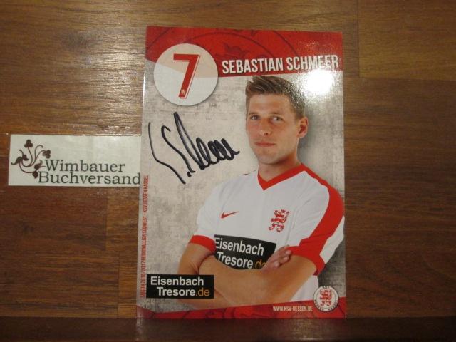 Original Autogramm Sebastian Schmeer KSV Hessen