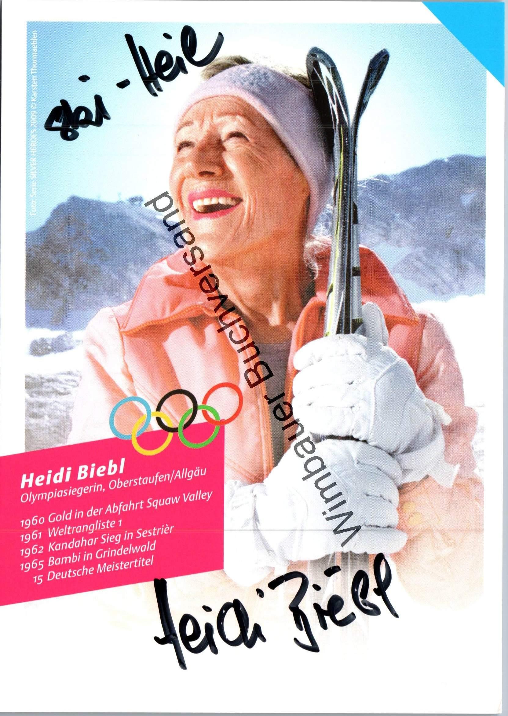 Original Autogramm Heidi Biebl