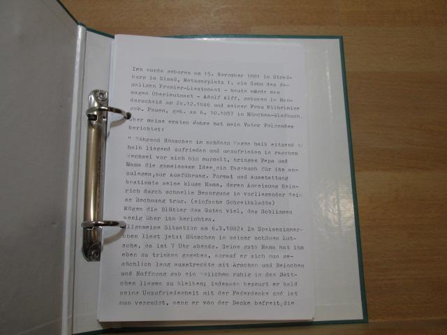 Typoskript: autobiographische Aufzeichnungen
