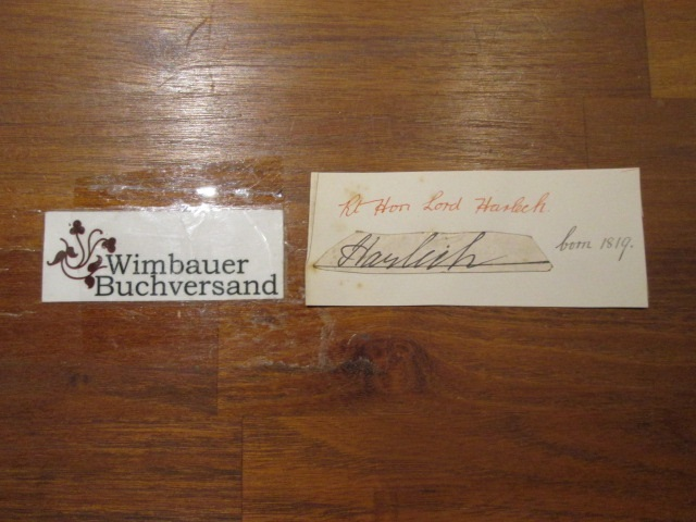 LORD HARLECH ( WILLIAM ORMSBY GORE ,2nd BARON HARLECH  1819 - 1904 ) /// Autogramm Autograph signiert signed signee