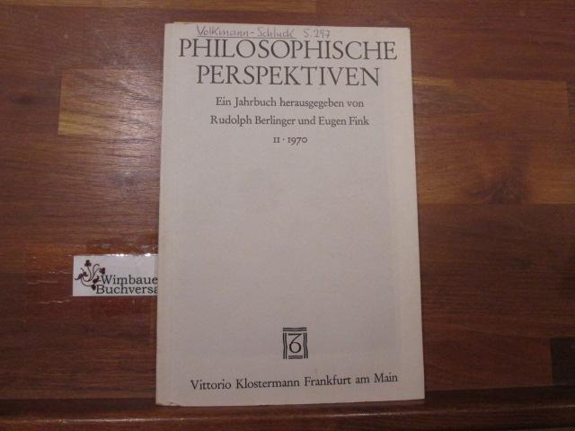 Philosophische Perspektiven : ein Jahrbuch. Band 2 1970