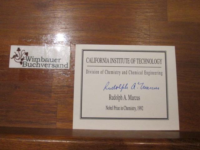 Rudolph Arthur Marcus Nobelpreis für Chemie 1992 // Autogramm Autograph signiert signed signee