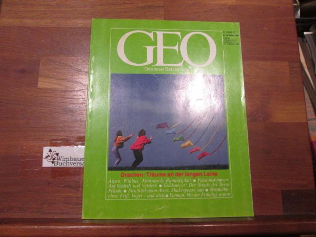 GEO. Das neue Bild der Erde, Nr. 10 Oktober 1984 Drachen Träume an der langen Leine