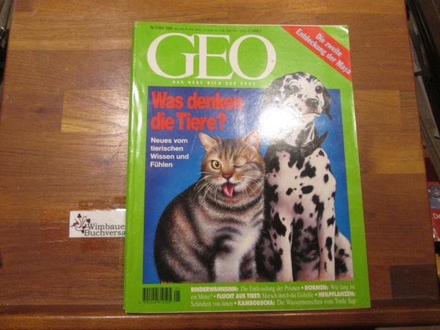 GEO. Das neue Bild der Erde, Nr. 5 Mai 1996 Was denken die Tiere?