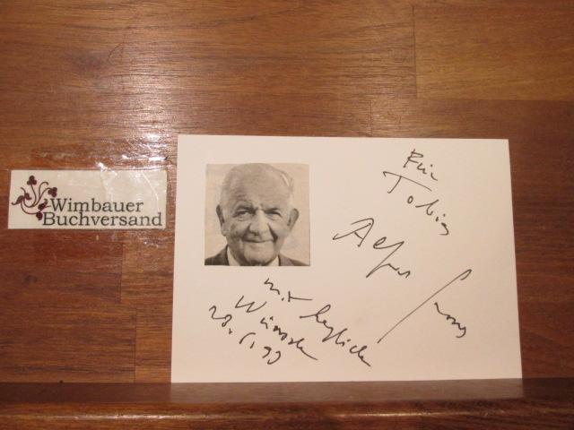 Original Autogramm Alfred Grosser Soziologe Publizist /// Autogramm Autograph signiert signed signee