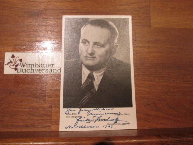 Original Autogramm Fritz Imhoff /// Autogramm Autograph signiert signed signee