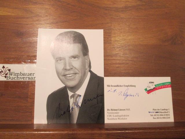 Autogramm Helmut Linssen // Finanzminister NRW CDU /// Autogramm Autograph signiert signed signee