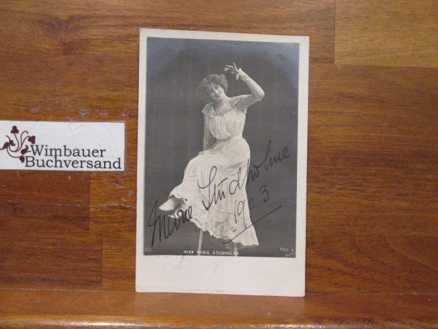 Original Autograph Marie Studholme (1872-1930) English Actress /// Autogramm Autograph signiert signed signee