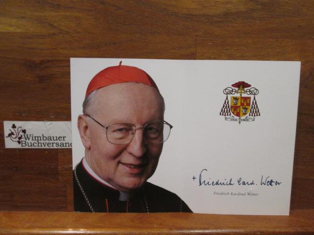 Autogrammkarte Friedrich Kardinal Wetter