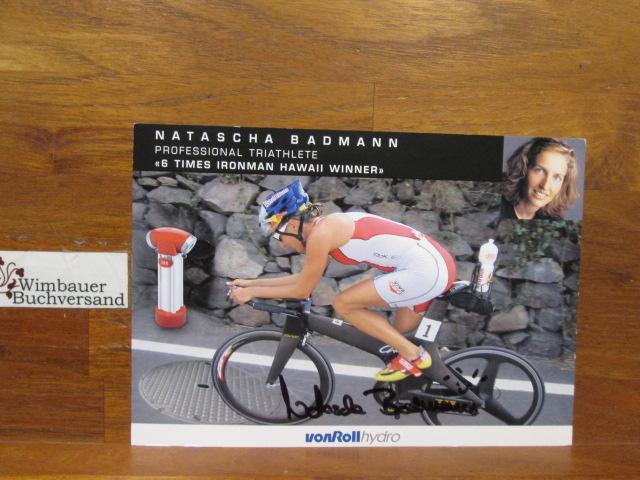 Original Autogramm Natascha Badmann // Triathlon Ironman /// Autogramm Autograph signiert signed signee