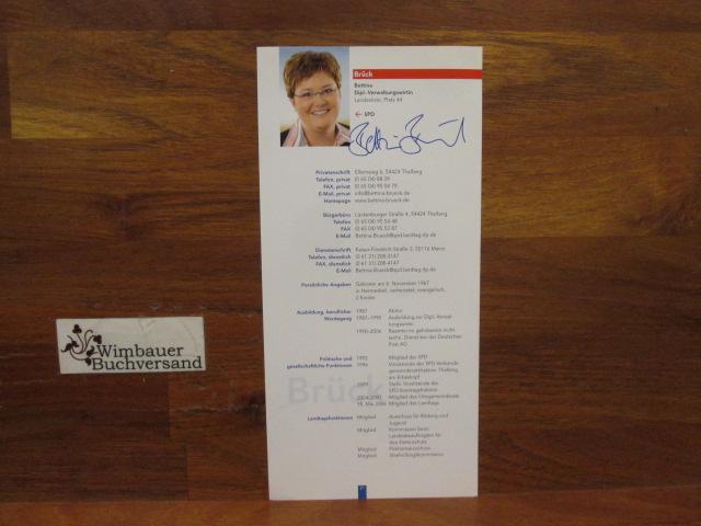 Autogramm Bettina Brück MdL SPD /// Autogramm Autograph signiert signed signee