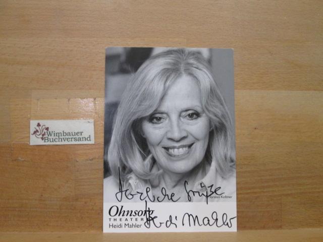 Original Autogramm Heidi Mahler Ohnesorg Theater /// Autogramm Autograph signiert signed signee