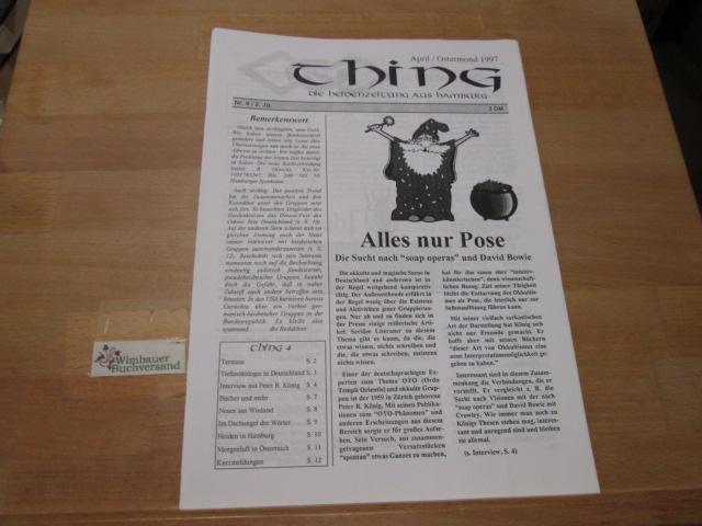 Thing. Die Heidenzeitung April Ostermond 1997, Nr. 3/2. Jg