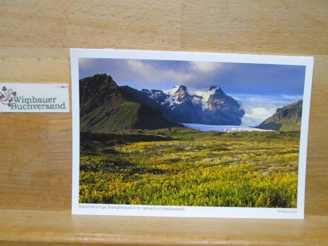 Photopostkarte Island 2015 Gletscherzunge Skaftafellsjökull im Vatnajökull-Nationalpark