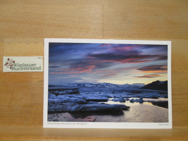 Photopostkarte Island 2016 Gletschersee Jökulsarlon am Vatnajökull