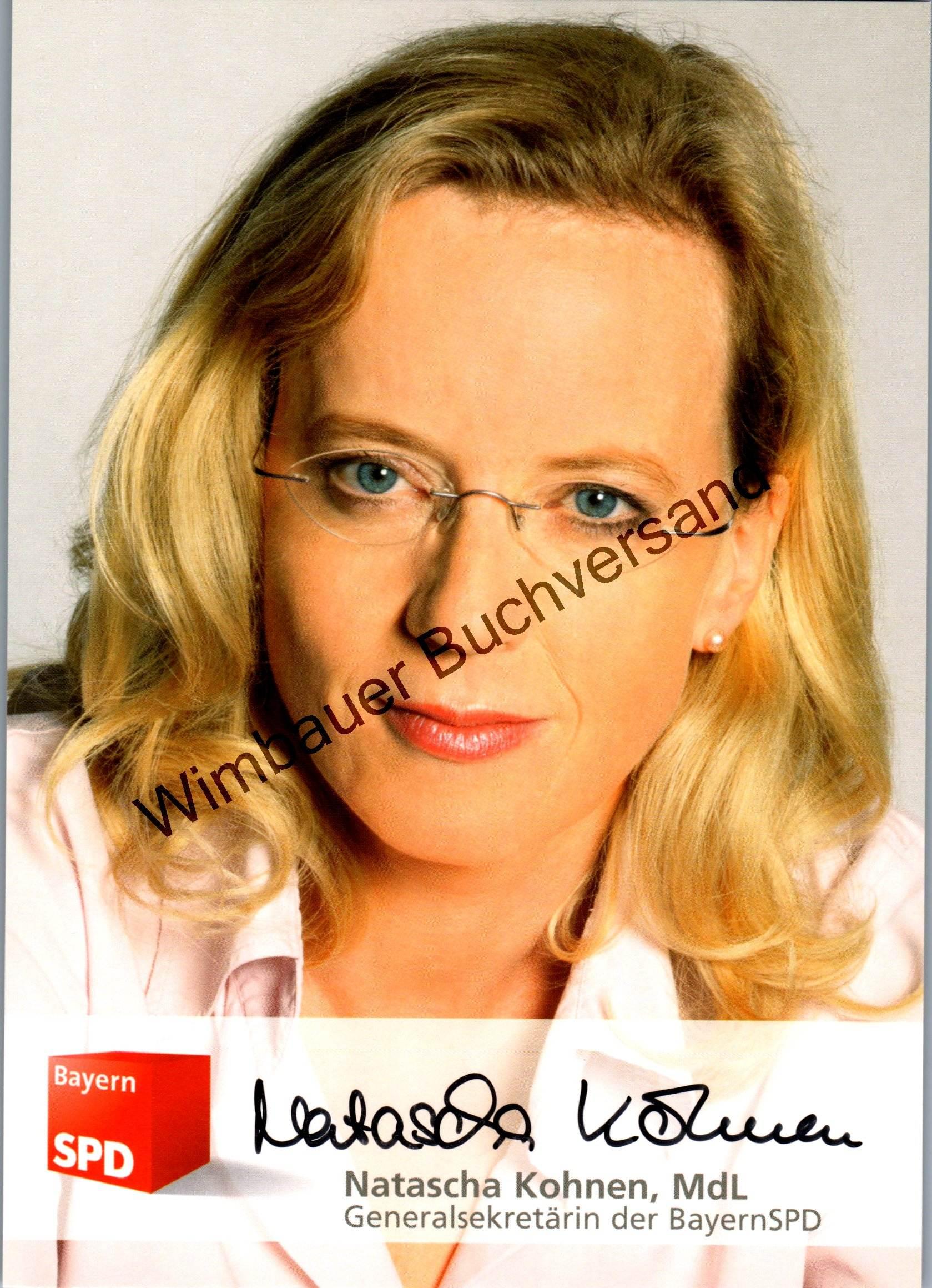 Original Autogramm Natascha Kohnen SPD Generalsekretärin Bayern  /// Autogramm Autograph signiert signed signee